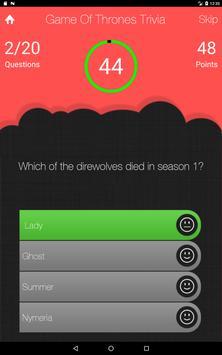 UnOfficial Game Of Thrones Quiz Trivia Game screenshot 7