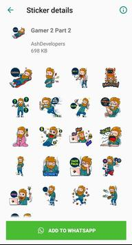 Gamers Stickers for WhatsApp - WAStickerApps screenshot 2