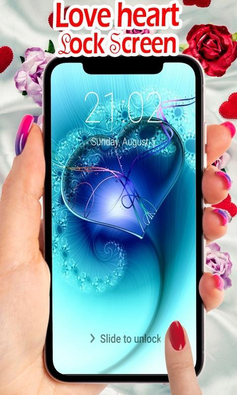 Love Lock Screen Hd Love Hearts Wallpapers Pattern For Android Apk