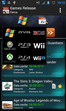 Games Release Ekran Görüntüsü 1