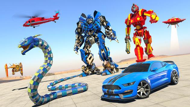 Anaconda Robot Car transform: war Robot Games poster