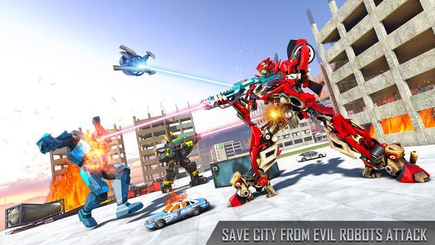 Anaconda Robot Car transform: war Robot Games screenshot 7