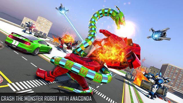 Anaconda Robot Car transform: war Robot Games screenshot 13
