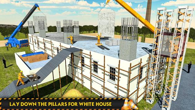 White House Building Construction Games 2019 poster