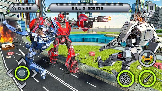 Future Robot War : Car Robot Transforming Games screenshot 10