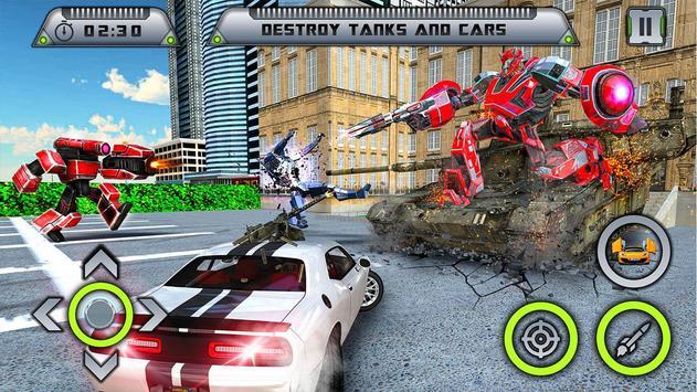 Future Robot War : Car Robot Transforming Games screenshot 2