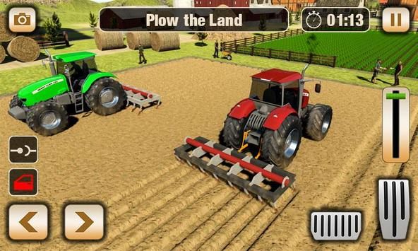 Real Tractor Driver Farm Simulator -Tractor Games poster
