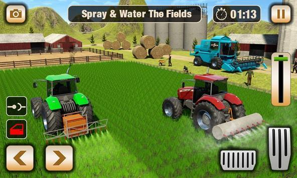 Real Tractor Driver Farm Simulator -Tractor Games screenshot 17