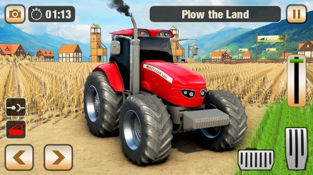 Real Tractor Driver Farm Simulator -Tractor Games screenshot 23