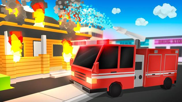 Cube Fire Truck: Firefighter poster