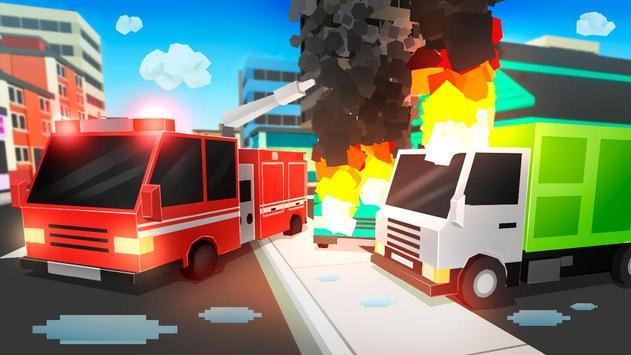 Cube Fire Truck: Firefighter screenshot 11