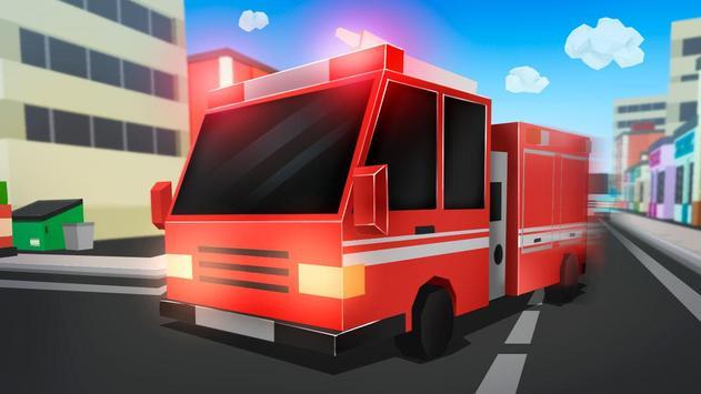 Cube Fire Truck: Firefighter screenshot 1
