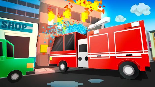 Cube Fire Truck: Firefighter screenshot 2