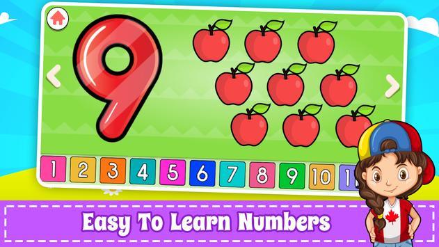 為孩子們學習數字 -  123計數遊戲 截圖 10