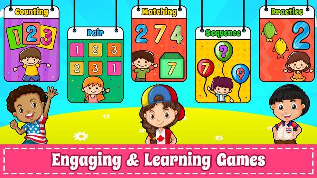 為孩子們學習數字 -  123計數遊戲 截圖 1