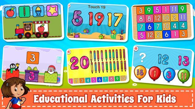 為孩子們學習數字 -  123計數遊戲 截圖 2