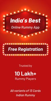 Play Rummy Online, Free Rummy Game, 13 Card Indian poster