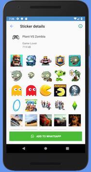 Gamesticker for Whatsapp (WAStickerApp) screenshot 1