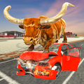 Angry Bull City Attack: Wild Bull Simulator Games