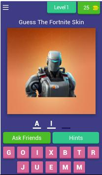 Guess The Fortnite Skin poster