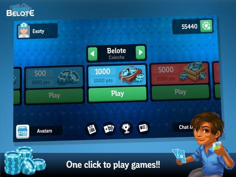 Multiplayer Belote & Coinche screenshot 14