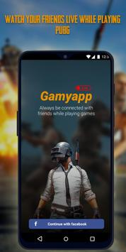 GamyApp - watch your friends play live games poster