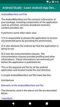 Learn Android Studio: App Development poster