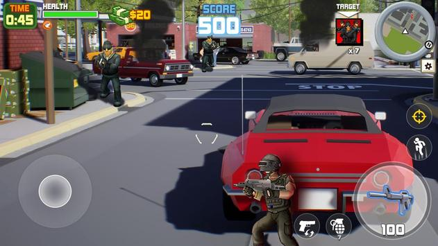 Gangstar City: Modern Gun Strike 3D- FPS Shooter screenshot 3