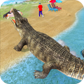 Angry Crocodile Family Sim City Attack