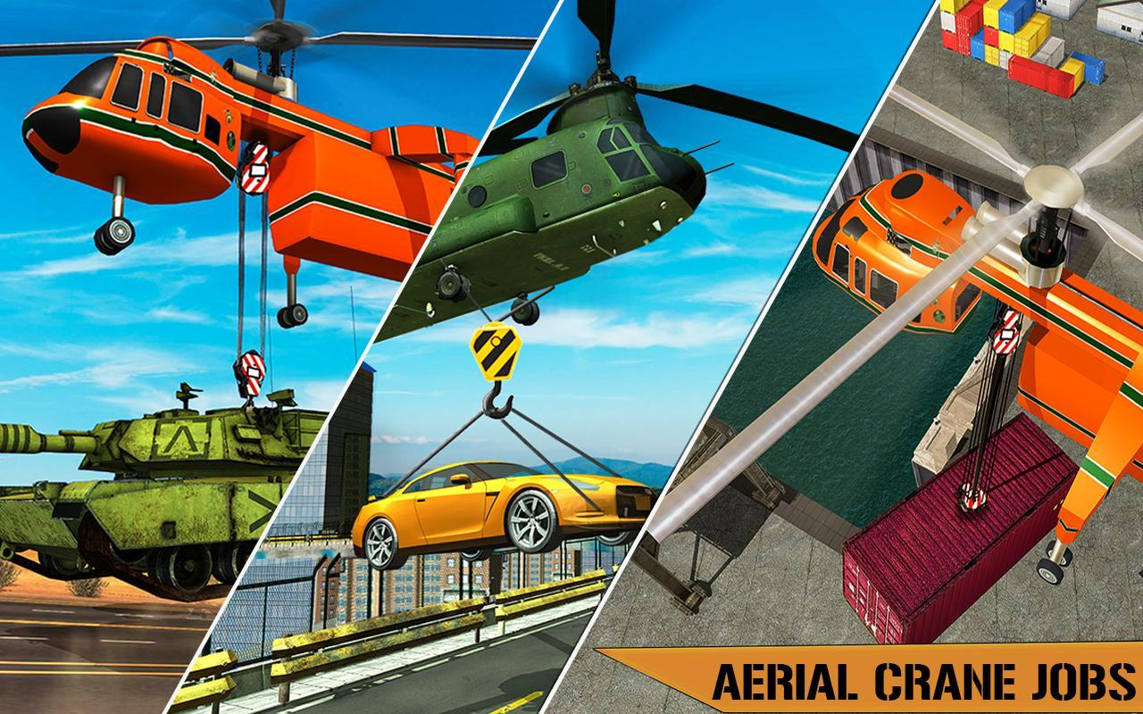 Helicopter Crane Cargo Delivery Transport Games for Android