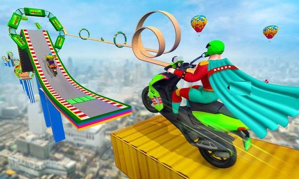 Superhero Scooter GT Stunt Game: Impossible Tracks poster