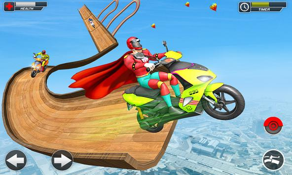 Superhero Scooter GT Stunt Game: Impossible Tracks screenshot 2