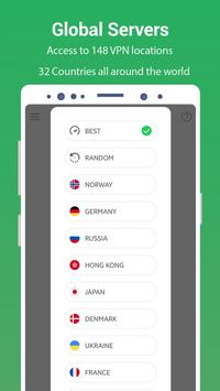 VPN Free - GreenNet Hotspot VPN & Private Browser screenshot 1