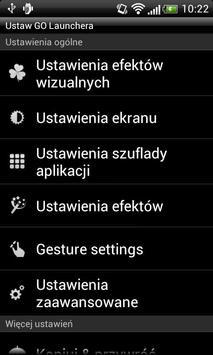 GO LauncherEX Polish language screenshot 1