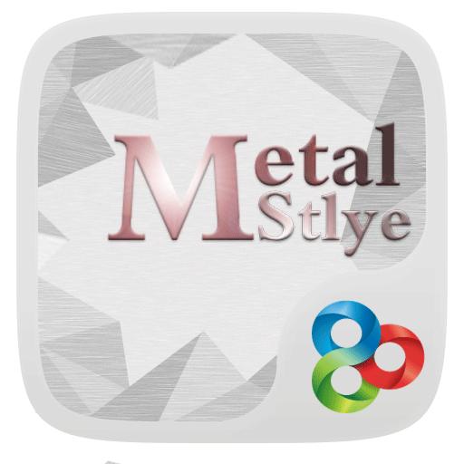 Metal R GO Launcher Theme