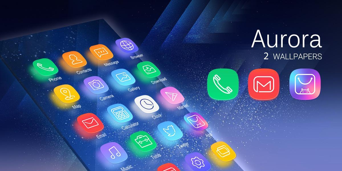 Aurora Go Launcher Theme For Android Apk Download
