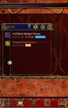 Steampunk Tempus Fugit GO Note screenshot 1