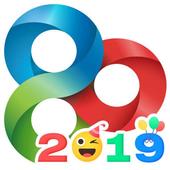 ikon GO Launcher EX-Tema&Wallpaper