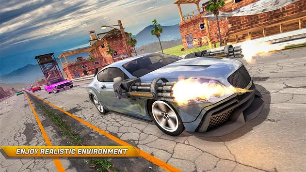 Traffic Car Shooter Racing Drive Simulator screenshot 10
