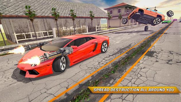Traffic Car Shooter Racing Drive Simulator screenshot 12