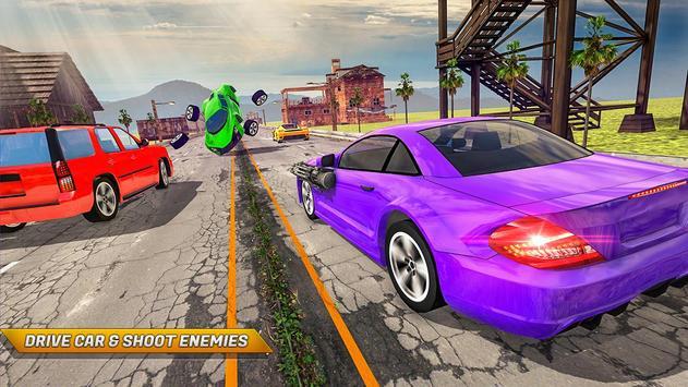 Traffic Car Shooter Racing Drive Simulator screenshot 6