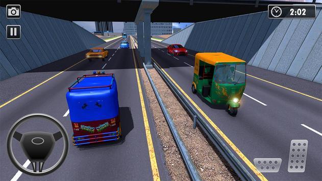 City Tuk Tuk Rickshaw Passenger Driving screenshot 3