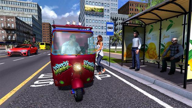 City Tuk Tuk Rickshaw Passenger Driving screenshot 10
