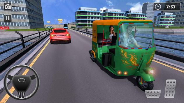 City Tuk Tuk Rickshaw Passenger Driving screenshot 1