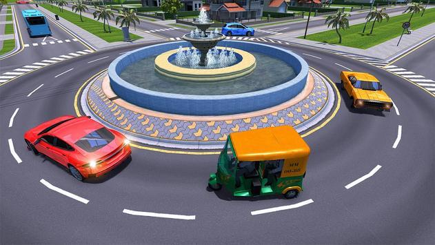 City Tuk Tuk Rickshaw Passenger Driving screenshot 7