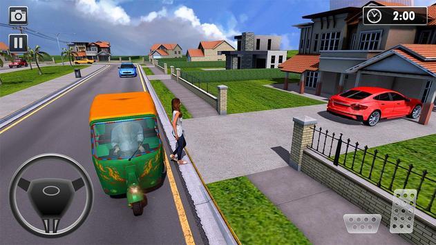 City Tuk Tuk Rickshaw Passenger Driving screenshot 4