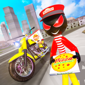 Pizza Delivery Stickman Simulator icon