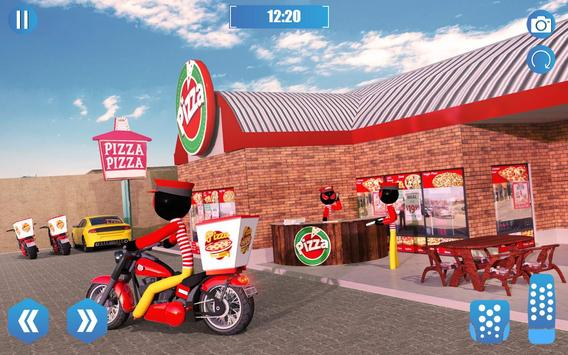 Pizza Delivery Stickman Simulator screenshot 2