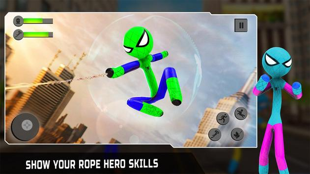 Flying Hero Stickman poster