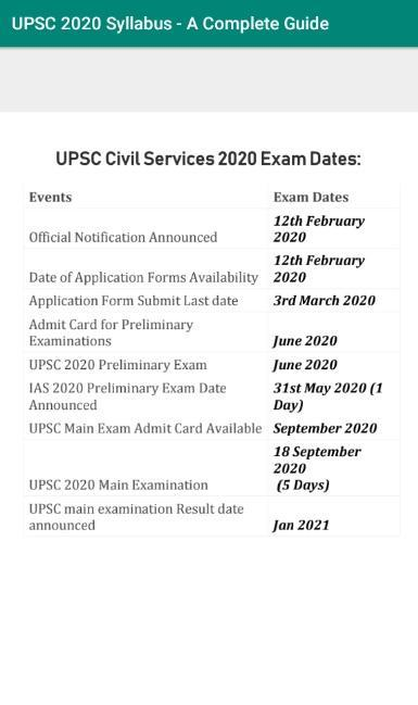 UPSC 2020 Syllabus - A Complete Guide for Android - APK Download